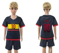 jerseys for kids - 15 new colombia away kid s soccer team kits JAMES short sleeve outdoor football uniform for child boy s designer sport jersey sets