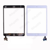 Wholesale 50 Touch Screen Glass Digitizer Replacement white Black For iPad Mini With IC adhesive camera bracket by free DHL EMS