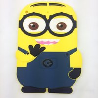 Wholesale 3D Cartoon Despicable Me Minion Soft Silicone Case Cover for Apple iPad mini retina inch Tablet Cases