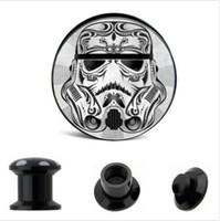 Wholesale 4mm mm Rose Skull Killer plug gauges screw fit ear plug gauges flesh tunnel body piercing