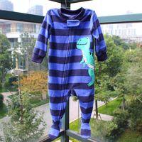 Wholesale Baby pajamas Long sleeve infants Baby One Piece Polar fleece jumpsuits baby Climb clothes newborn clothes polar fleece drop shipping