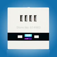 Wholesale Newest Universal USB Port A Wall Face Plate Outlet Panel Power Supply Socket Plug Switch Charger