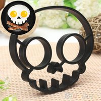 Wholesale Cute Silicone Skull Owl Egg Fried Shaped Mould Shaper Ring Kitchen Cooking Tool QCH