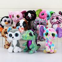 big plush dog - TY beanie boos big eyes plush toy doll child birthday Christmas gift Dog elephant rabbit Penguin