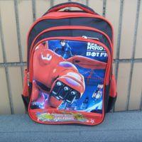 Wholesale 2015 new arrival inch big hero kids backpacks cartoon children schoolbags kids bags for boys colors