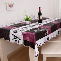 Wholesale PVC Table Cloth Plastic Waterproof Oil Dining Tablecloth cm PVC Table Cloth Plastic Waterproof Oil Dining Tablecloth