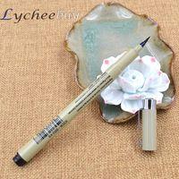 Wholesale 1 Pc New Black Ink Soft Brush Needle Pen Calligraphy Easy Write