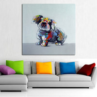 animal fat oil - Decorative Art Handmade Oil Painting On Canvas A Fat Dog Picture Home Decor For Living Room Wall Paintings Animal Pictures