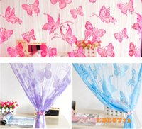 Wholesale S Door Curtain Window Butterfly Pattern Tassel String Room Curtain pc