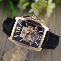 b quartz watch - luxury Mens FLYING B GOLDEN STAINLESS STEEL tourbillion A4436512 B873SS Black Dial Automatic Men s Watches Mens Watch