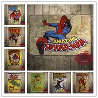 aluminum decor - METAL TIN SIGN SUPER HEROS POSTER Vintage Decor Home Bar Pub Garage Wall Poster