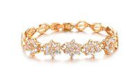 Wholesale Bridal fashion features exquisite gift Roman A Zircon K gold plated bracelet handmade trinkets KS441