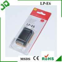 Wholesale 1800mAh LP E6 LPE6 Digital Camera Battery For Canon E0S DMark II III D2 D3 D D D With Retail Package