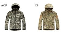 Wholesale DORP SHIPPING Men s Lurker Shark skin Soft Shell Outdoor Military Tactical Hiking Jacket Waterproof Windproof Sports Army camouflage coat