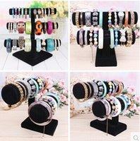 Wholesale Watch bracelet Jewellery Display Black Velvet Tier nad tier assemble bracelet Stand jewelry holder