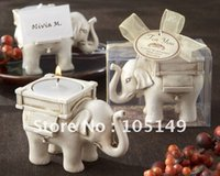 baby candle holders - Lucky Elephant Antique Ivory Candle Holder for Wedding favors and baby gifts top quality hot sale