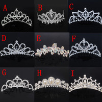 crowns and tiaras - Brilliant Cheap Tiaras Hair Crowns Bridal Headbands With Rhinestones Crystals And Faux Pearls Wedding Hair Accessories