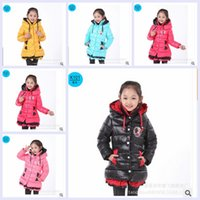 Wholesale new frozen anna elsa colors sizes kids girl cotton padded Feather winter thicken down coat Down jacket christmas gift topB1238