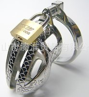 alternative metal supply - Cb metal chastity belt for men Stainless steel chastity cock cage dragon irritating alternative sex toy products supplies