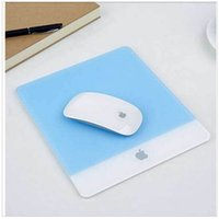acrylic computer desk - New Stylish Acrylic Plexiglass Matte Surface Game Desk Frosted Mouse Pad Mat Design For Apple MackBook Computer Laptop