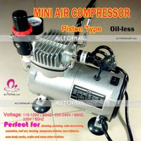Wholesale Mini Air Compressor Tattoo Air Brush V Makeup Pump Portable Piston Oil less Silent Spray Nail Art Air Brush
