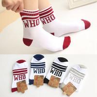 baby blue imports - 2015 socks for man women baby South Korea imported ladies socks Japanese Harajuku street WHO letter white sports s