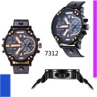 japanese - hot new men s luxury brand quartz watch fashion watch leather strap Japanese quartz calendar DZ Men s Watches