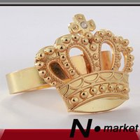 Wholesale New Pure Color Imperial Crown Napkin Ring Wedding Decoration Napkin Holder Home Ring