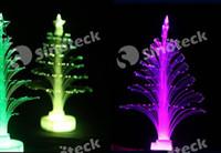 fiber optic tree - Christmas Decorations Fiber Optic Christmas Tree Colorful Flash LED Light Three dimensional Decoration Ornament Gift Free DHL Factory Direct