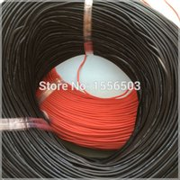 Wholesale m Red m Black Silicone Rubber Wire AWG T1116 Insulated Cable Flexible Soft for LED Light Strip Extend Electronic DIY