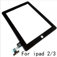 Wholesale Touch Screen Glass Panel With Digitizer Replacement with Home Button M Adhesive Glue Sticker Replacement Repair Parts For iPad iPad