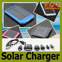 Wholesale high quality full power bank mah solar panel charger External Battery for iphone samsung S4 Portable Power