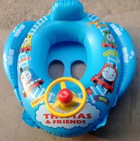 Wholesale Swimming laps By lap children by boat floating craft inflatable toy card goggles swimming circle wheel horn hql