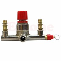 air tube fittings - Alloy Air Compressor Switch Double Outlet Tube Pressure Regulator Valve Fit Part