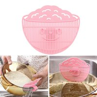 Wholesale 1pc Clean Rice Wash rice sieve manual kitchen cooking tools utility not to hurt the hand Rice washing device cook tool