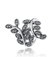 crystal crystal ring - Wholeasle Size Sterling Silver Branch Zircon Ring European Fine Jewelry Rings For Women Party Wedding Anniversary Gift