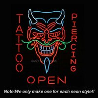 best tattoo shops - Tattoo Body Piercing Shop OPEN Neon Sign Neon Bulbs Recreation Windows Neon Real Glass Tube Commercial Handcraft Best Gift x24
