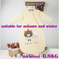 Wholesale Baby sleeping bags children s sleeping bags new style suitable for autumn and winter thickened cotton three colors