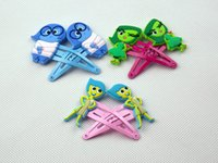 animation clips - 100Pairs Cartoon Movie Inside Out Little Girls Hairpins Pvc Figure Toys Animation Around Accessories Girls Lovely Hair Clips