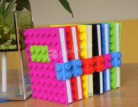 color cover notebook - Notebook Silicone Cover Creative Candy Color Dairy Brick Book Silicone Stars Books Dot D Notepad Recycling Stationery Material UPS Factory