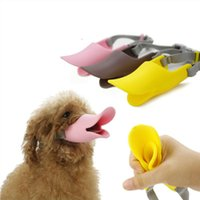Wholesale Novelty Duckbilled Dog Muzzle Bark Bite Stop Soft Silicone Mouth muffle Dogs Mouth Cover Anti bite Mask S M L
