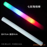 Wholesale 315 Hot seven colour sponge flashlight Cheer flashing LED sponge sponge stick glow stick festive glow stick