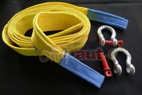 Wholesale Car trailer rope meters Tons Tow Cable Tow Strap Towing Rope with Hooks for Heavy Duty Car Emergency