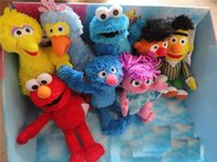 bert ernie - Neonatal sesame street elmo biscuits Bert and ernie doll plush toys Christmas gift28cm puppet