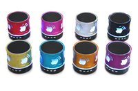 Wholesale New Bluetooth speaker S300 LED mini wireless speakers apple design handsfree speaker for note5 iphone6s phone tablet PSP MP3 DHL FREE