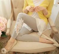 Wholesale Black Gray Lace Slim Elastic Leggings Casual Thin Trousers Leggings for women Christmas Gift