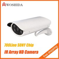"Cheap 1 3"" SONY CCD IR Array CCTV Camera HD 700TVL Security Camera Night Vision Waterproof With Bracket Woshida"