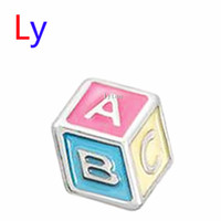 baby sliders - 2015 Latest New Hot Selling Baby Block Charms Good Quality Floating Charms Metal Zinc Charms MFC979