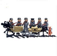 Wholesale 6 SWAT World War II Troops military Kid Baby Toy Mini Figure Building Blocks Sets Model Minifigures Collection Brick