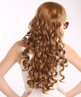 long blonde curly wig - Euramerican Prevailing Long Heat Resistant Synthetic Deep Wave Curly Wigs for Women Classic Blonde Anime Wig